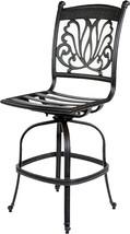 Patio furniture Las Vegas BarStool Arm-Less outdoor cast Aluminum Sunbrella seat image 2