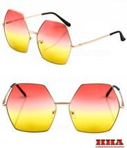 2 PAIR Hippie Oversized Octagon Style Gradient Color Lens SUNGLASSES NEW... - $12.82
