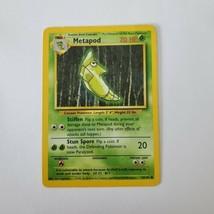 Pokemon Base Set 1999 Metapod Card MP 54/102 TCG Trading Card Game Unlimited - $0.99