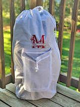 Personalized laundry bag, collage dorm or summer camp laundry bag - $20.00