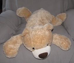 "Best Made Toys Stuffed Plush Beige Tan Teddy Bear Pillow Large 34"" - $54.44"