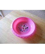 DISNEY MINNIE MOUSE HARD PLASTIC BOWL PINK NEW CUTE - $5.00