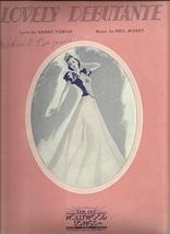1938 Lovely Debutante Chords Guitar Ukulele Vintage Sheet Music - $7.95