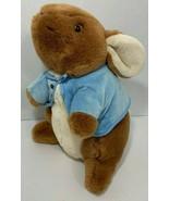 Peter Rabbit Large Plush bunny stuffed animal Eden ears down blue jacket... - $11.57
