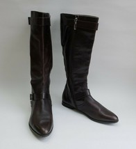 Calvin Klein Shoes Boots Zipper Knee High Brown Tracie Womens Size US 10 M - $69.25