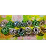 Beautiful 13pc Vintage Bradford Christmas Indent Ornament Collection - $24.00