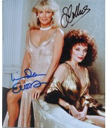 DYNASTY CAST SIGNED PHOTO x2 - Joan Collins, Linda Evans w/COA - $169.00