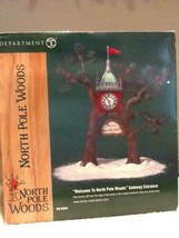 Dept 56 North Pole Woods - Welcome to North Pole Woods Gateway Entrance ... - $14.95