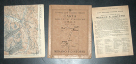 Antique 1930s North Italy Map TCI Carta Merano & Surroundings South Tirol Alpine image 6