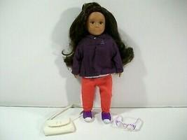 "Battat Lori Fabiana 6"" Mini Doll With Sweet Simplicity Outfit Purse Glasses - $19.55"