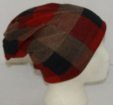 Howards Arianna Collection Buffalo Plaid Convertible Hat Adult Reds image 3