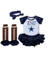 Dallas  Cowboys Girls Onesie Uniform Jersey Watching With Daddy - $21.95+