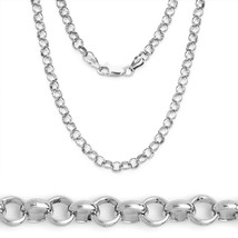 2.1mm 925 Sterling Silver w/ Rhodium Open Rolo ... - $18.23 - $26.95