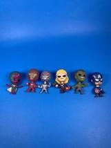 Lot Of 6 Marvel Avengers Age Of Ultron Mini's Series 1 Mini Bobblehead F... - $40.17