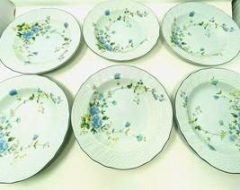 "Lot of 6 Mikasa Precious Blue Michelle Soup Salad Bowl  9"" Cottagecore F... - $46.39"