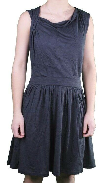 Bench Young Womens Navy Pincrop Cotton Blend Summer Casual Dress L XL NWT