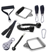 Cable Machine Attachments Tricep Rope D-Handle Cable Pully Optional For ... - $12.77+