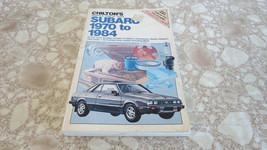 1970-1984 Subaru Service Manual  893 - $22.49