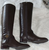 Tory Burch Bristol 30mm Boots-Leather Coconut Size 8.5 100% Authentic Gu... - $379.99