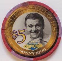 Tropicana Las Vegas Casino Legend Hall of Fame Sonny King $5 Ltd 750 Casino Chip - $8.95