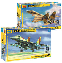 Zvezda LOT OF 2: Su-35 Su-37. 1/72. 7240 7241 Russian fighter models - $25.48
