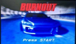 Burnout (Nintendo GameCube, 2002) Game Tested Working Disc & Case - $12.86