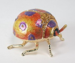 Ladybug Shaped Trinket Jewelry Box with Matching Pendant & Necklace - $27.67