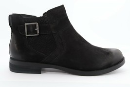 Abeo Yana Ankle Booties Black Nubuck Women's Size US 7 Neutral Footbed() 5175 - $100.00