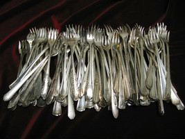Lot of 50 Vintage Silverplate Seafood Cocktail Fork Craft or Use Flatware  - $69.99