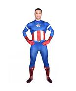 Captain America 1 Super Hero Bodysuit Zentai Catsuit Tights Costume - $53.90