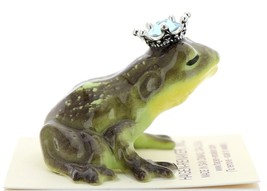Hagen-Renaker Miniature Frog Prince Kissing Birthstone 03 March Aquamarine image 2