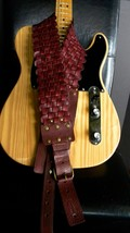 HANDMADE WESTERN LEATHER GUITAR STRAP STAGE SERIES - $41.14