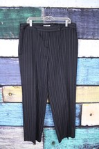 Dressbarn Blue Purple White Striped Dress Pants Plus 16W 1X Career Offic... - $29.69