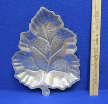 Vintage Forman Tray Decorative Aluminum Platter Leaf Shaped Pine Cones L... - $12.22