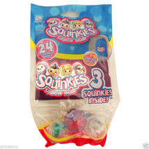 3 Pack Squinkies Toy Figurines Squinkies Toy Stickers With Carry Bag - $5.95