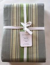 """Williams-Sonoma PORTO JACQUARD Tablecloth ~70"""" x 126""""~Dove Gray/Green Borders~ - $109.00"""
