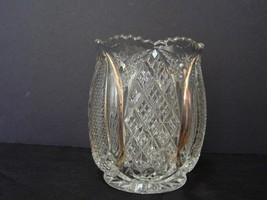 Vintage McKee  6 ¼ Inch Celery Vase with Gold Highlights  - $50.00