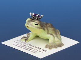 Birthstone Frog Prince Kissing January Garnet Miniatures by Hagen-Renaker image 1