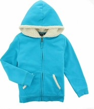 Lands' End G LS SHERPA HOODIE Calypso Blue S NEW 459588 - $13.84