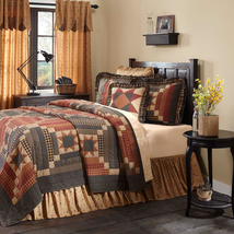 Maisie Farmhouse 7-piece QUEEN Quilt Set -Euro Shams, Quilted Pillow & Bed Skirt