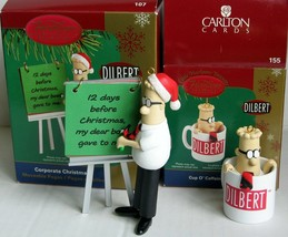 Carlton Card Dilbert Corporate Christmas Ornament Coffee Lot Cup O' Caff... - $35.99