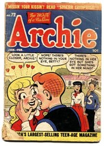 ARCHIE COMICS #72 comic book 1955- BETTY & VERONICA - fr/g - $27.74