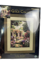 Dimensions Gold Collection Floral Retreat Counted Cross Stitch Kit 35079   - $148.49