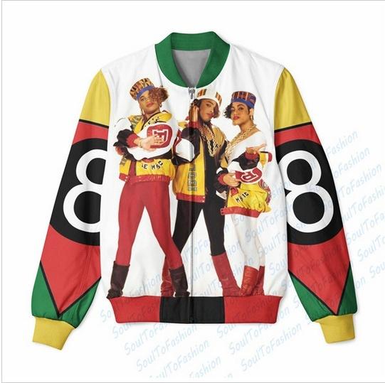 8 Ball x Salt N Pepa 3D Sublimation Print Men Women Zipper Up Jacket outwear