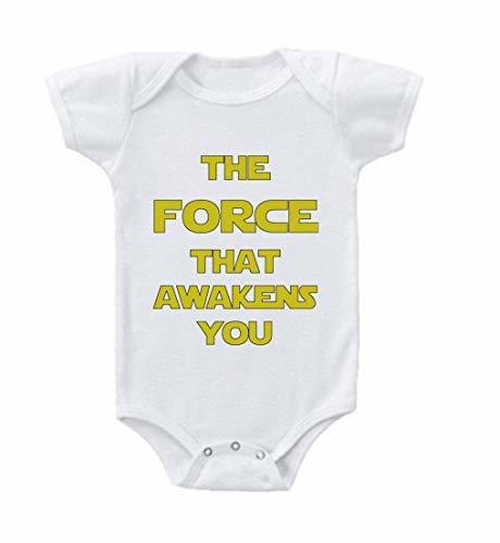 Primary image for Unisex Baby The Force That Awakens You Baby Clothes 12-18 Months White