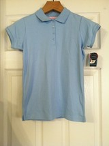 NAUTICA GIRLS NEW SKY BLUE 60%COTTON 40%POLYESTER CASUAL TOP SIZE:L(12-1... - $27.12