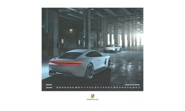 2019 Porsche Wall Calendar Collector's Coin Timeless History Germany Mad... - $73.01