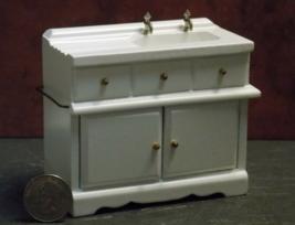 1 Pcs Kitchen Sink Cabinet Dollhouse Miniature Wood 1:12 inch scale - DL - $56.00