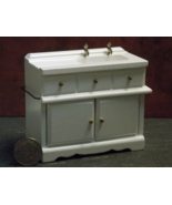 1 Pcs Kitchen Sink Cabinet Dollhouse Miniature Wood 1:12 inch scale - DL - $56.00
