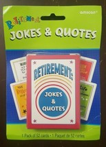 Amscan Retirement Jokes & Quotes 52 Card Deck Gag/Novelty Gift FREE SHIP... - $16.00